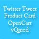 Twitter Tweet Product Card - OpenCart vQmod - CodeCanyon Item for Sale