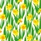 Vintage Floral Pattern with Daffodils - GraphicRiver Item for Sale