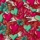 Hearts and Flowers Seamless Background - GraphicRiver Item for Sale