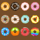 Donuts Collection Set - GraphicRiver Item for Sale