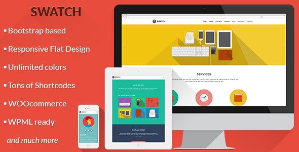 Theme de WordPress Estilo Flat: Swatch