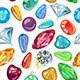 Seamless Texture of Colored Gems - GraphicRiver Item for Sale