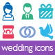 Wedding Icons - GraphicRiver Item for Sale