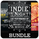 Indie Night - Flyers Bundle [Vol.6] - GraphicRiver Item for Sale