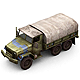 Military Modern War Transport Truck (Blue) - 3DOcean Item for Sale