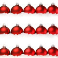 Red Christmas balls with snow isolated on white - PhotoDune Item for Sale