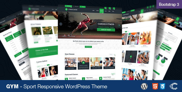 ThemeForest GYM Sport Fitness Bootstrap Responsive Theme 6656015