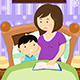 Mother Reading a Bedtime Story - GraphicRiver Item for Sale
