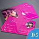Beauty Parlor Business Card v01 - GraphicRiver Item for Sale