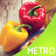 Metro Style Fast Food Menu - GraphicRiver Item for Sale