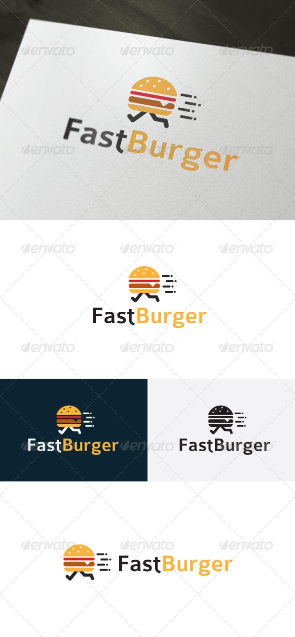 GraphicRiver Fast Burger Logo Fast Food 6667286