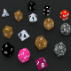 6+6 RPG D&D dice set/collection (UV Mapped) - 3DOcean Item for Sale