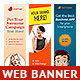 Multipurpose Web Banner Design Bundle 3 - GraphicRiver Item for Sale