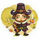 Cute Pilgrim boy - GraphicRiver Item for Sale