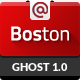 Boston - Corporate Parallax GHOST Template - ThemeForest Item for Sale