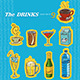 Various Drinks Set of 9 - GraphicRiver Item for Sale