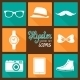Hipster Accessories Pictograms - GraphicRiver Item for Sale