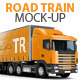 Trailer, Road train, large Truck mock-up - GraphicRiver Item for Sale