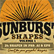 Sunbursts Shapes Vol.1 - GraphicRiver Item for Sale
