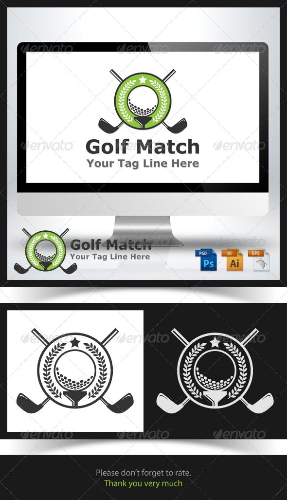 Golf Match Logo   GraphicRiver