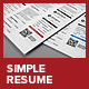 Simple 3 Columns Resume  - GraphicRiver Item for Sale