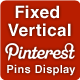 Pinterest Pins Display Fixed Vertical Button  - CodeCanyon Item for Sale