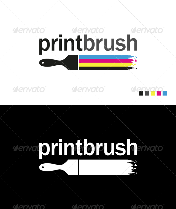 GraphicRiver Print Brush Logo Template 703142