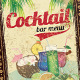 Cocktail Bar Menu - GraphicRiver Item for Sale