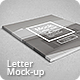 Letter Magazine / Brochure Mock-up - GraphicRiver Item for Sale