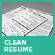 Clean Resume Vol.1 - GraphicRiver Item for Sale