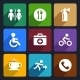 International Service Signs Flat Icons Set 39 - GraphicRiver Item for Sale
