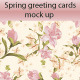 Floral Greeting Cards / Invitation Mock Up Set - GraphicRiver Item for Sale
