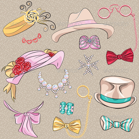 GraphicRiver Set Millinery and Accessories 6726651