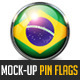 210 Pin Flags MockUp - GraphicRiver Item for Sale