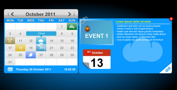 ActiveDen XML Calendar Events with Tool Tips & Custom Icons 697298