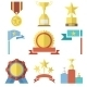 Flat Design Style Awards and Trophy Icons Set - GraphicRiver Item for Sale