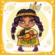 North American Indian girl - GraphicRiver Item for Sale