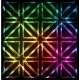 Shining Neon Lights Rainbow Squares Background - GraphicRiver Item for Sale
