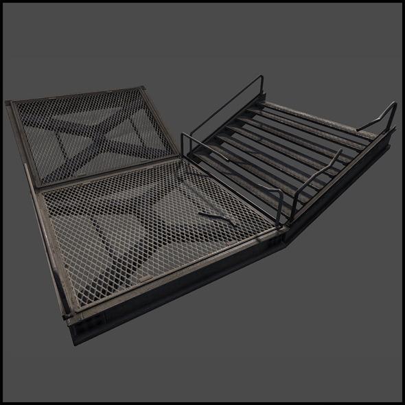 3d model Metal Catwalk Set
