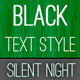Black - Text Style - GraphicRiver Item for Sale