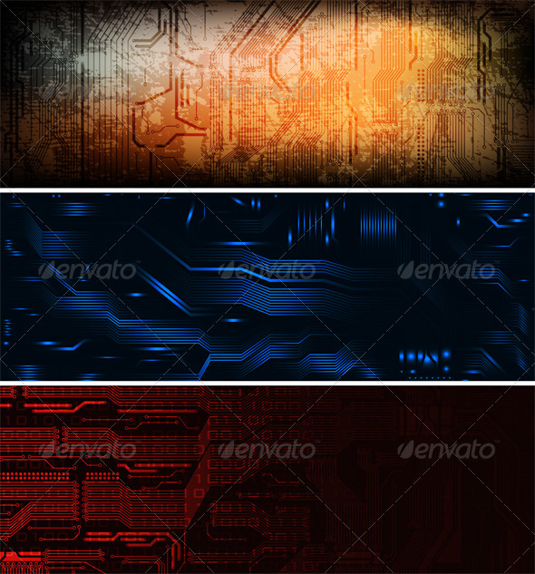 Graphic River banners Vectors -  Conceptual  Technology 706683