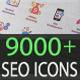 Flat SEO Icons and Internet Marketing Icons - GraphicRiver Item for Sale
