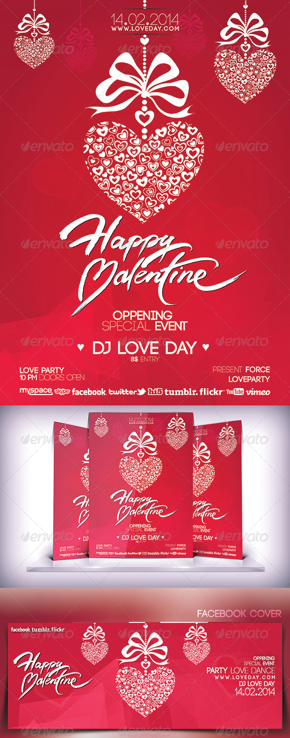 GraphicRiver Valentines Day Music Party Flyer 6761294