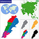 Lebanon Map - GraphicRiver Item for Sale