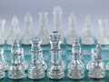 Glass Chess Pieces on a Frosted Glass Chessboard - PhotoDune Item for Sale