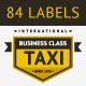 84 stamps. Taxi Insignia - GraphicRiver Item for Sale