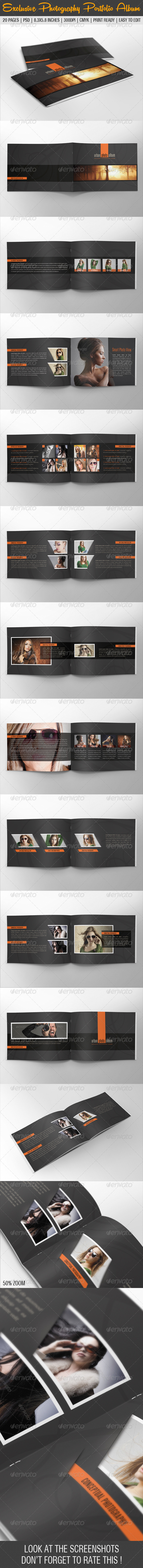 Exclusive Photography Portfolio Album 05 - Photo Albums Print Templates