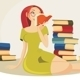Reading a Book - GraphicRiver Item for Sale