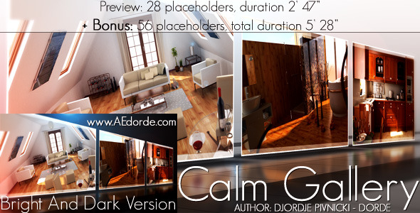 After Effects Project - VideoHive Calm Gallery 709009