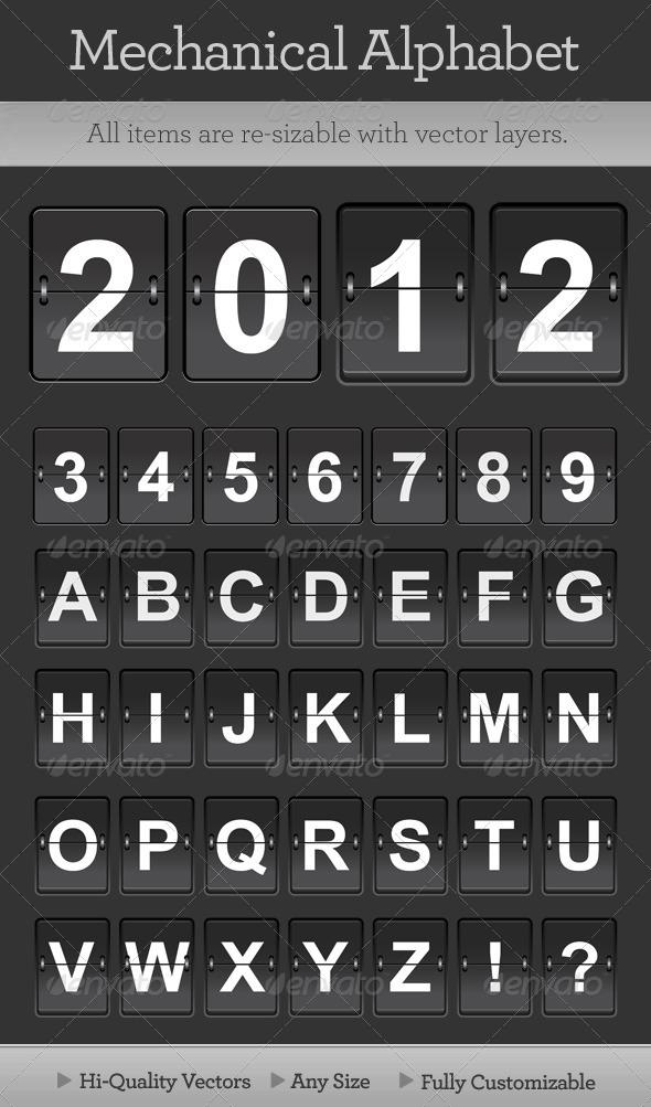 GraphicRiver Mechanical Alphabet 707186